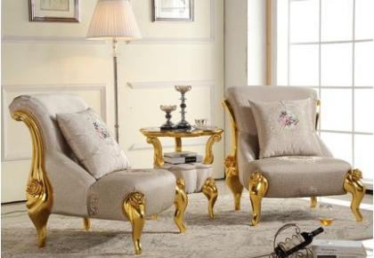 European single sofa ,beauty salon leisure chair, neo-classical fabric sofa
