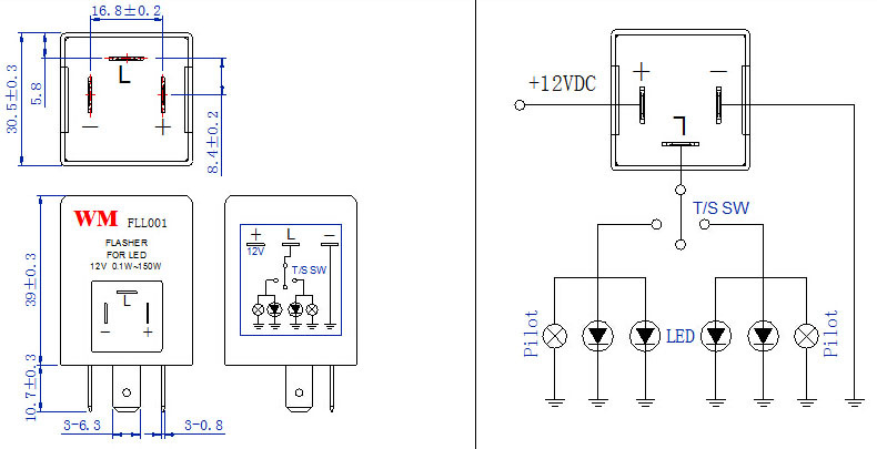 led flasher relay wiring diagram wiring diagram and schematic design how to build an led flasher circuit a 555 timer chip