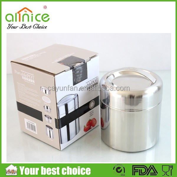 2015 food grade stainless steel lunch box that keeps food hot/tiffin carrier thermal lunch box