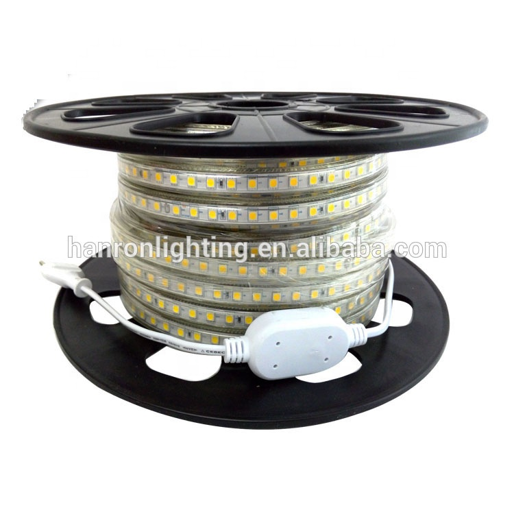 Factory wholesale high voltage 110V 220V smd 2835 5050 3528 led rgb strip light 100m