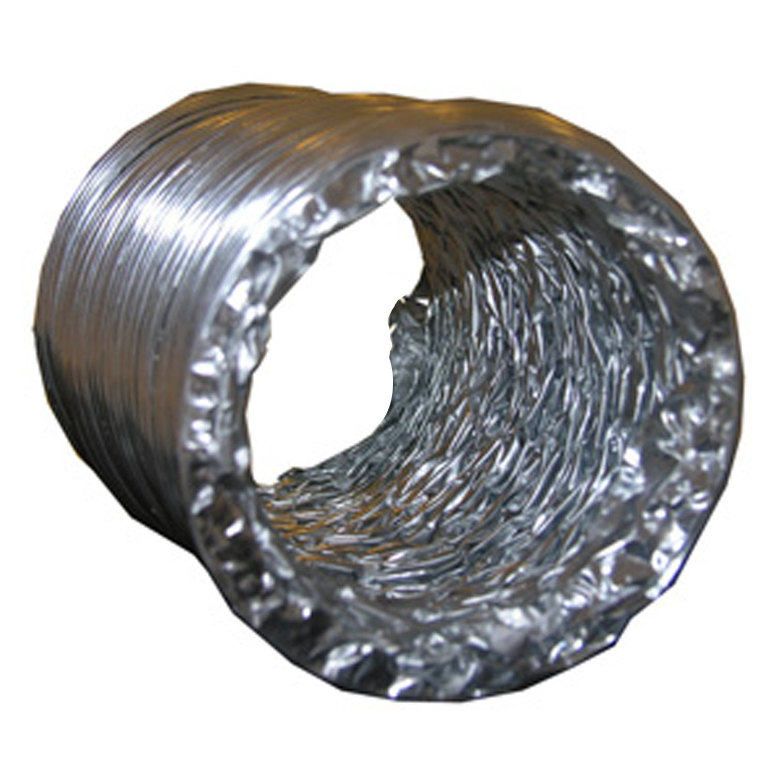 LASCO 10-1876 Aluminum Dryer Vent Duct Hose, 4-Inch x 8-Foot