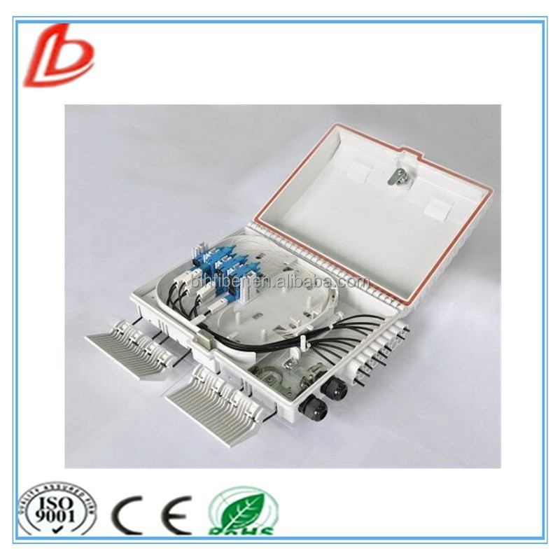 FTTH Box 16 port Optical Fiber Distribution Termination Box with PC+ABS