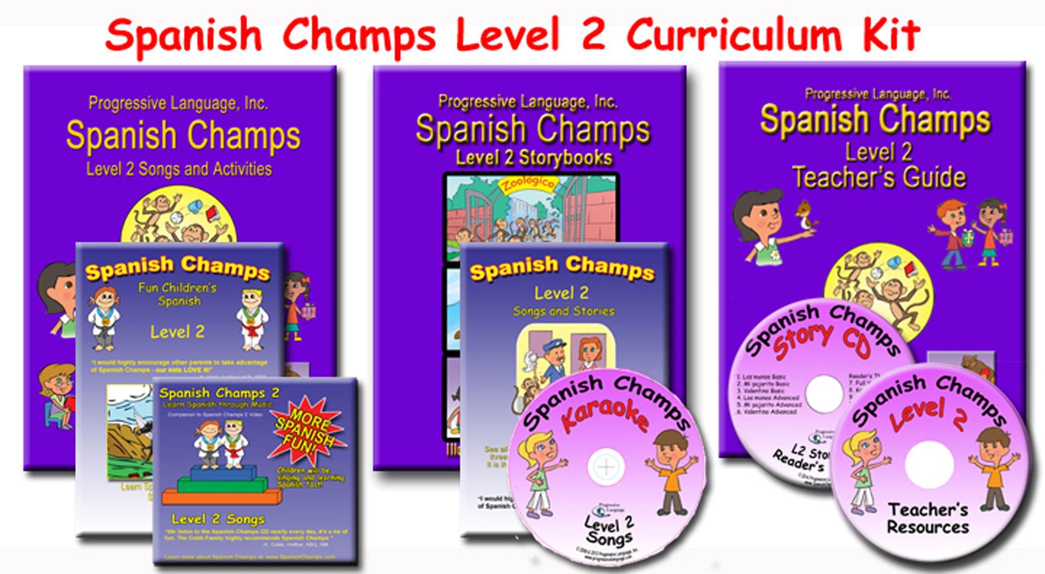 Preschool Spanish Curriculum, Spanish Champs Level 2 kit