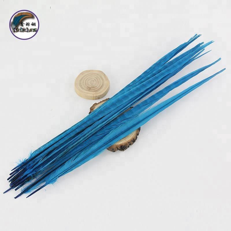 Plumes de queue de faisan, lot de 100, 50-55 cm(20-22 pouces) à col arrondi, teinture, pour bricolage, Arts et artisanat