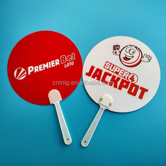 Souvenir Compnay Wholesale Custom Paper Adverting Gift Hand Fan