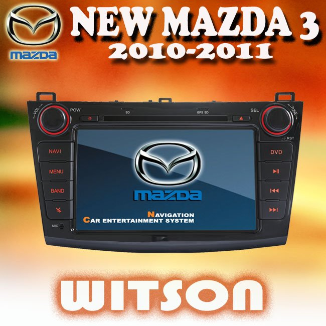 WITSON NEW MAZDA 3 CAR DVD GPS BLUETOOTH with iPhone ready