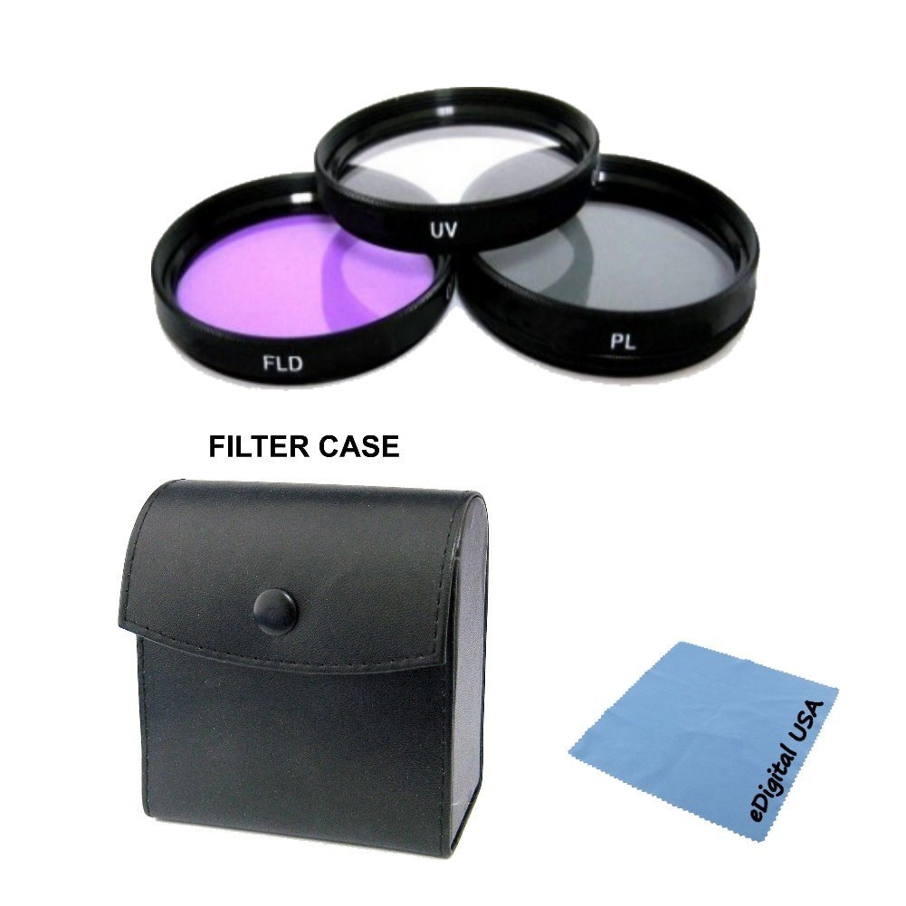 High Definition UV/CPL/FLD Filter Lens Kit For: Olmypus Zuiko MC 18mm f/3.5, Zuiko MC 300mm f/4.5, Zuiko MC 400mm f/6.3, Zuiko Reflex 500mm f/8, Zuiko Digital 11-22mm f/2.8-3.5, Zuiko MC 180mm f/2.8 and more 72mm Olympus Lens