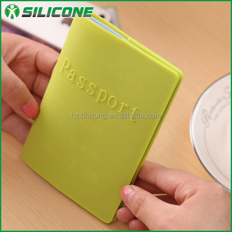 2016 candy color china manufacture rubber OEM travel PVC passport holder