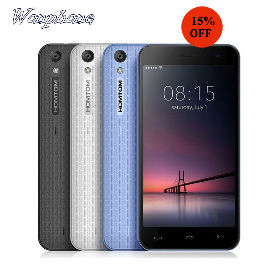 Cheapest Homtom HT16 Android Smartphone 5.0 inch 3G Android Phone Quad Core 1GB 8GB Phone MT6580 5.0MP 3000mAh