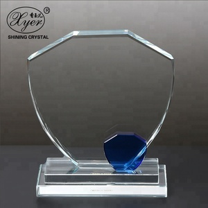 PuJiang optical glass classics clear crystal transparent trophy for souvenir gifts