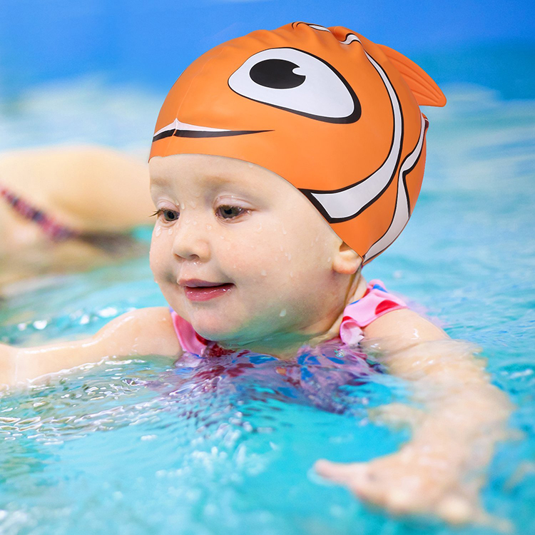 Good Quality Waterproof Custom Printing Logo Swimming Cap For Kids