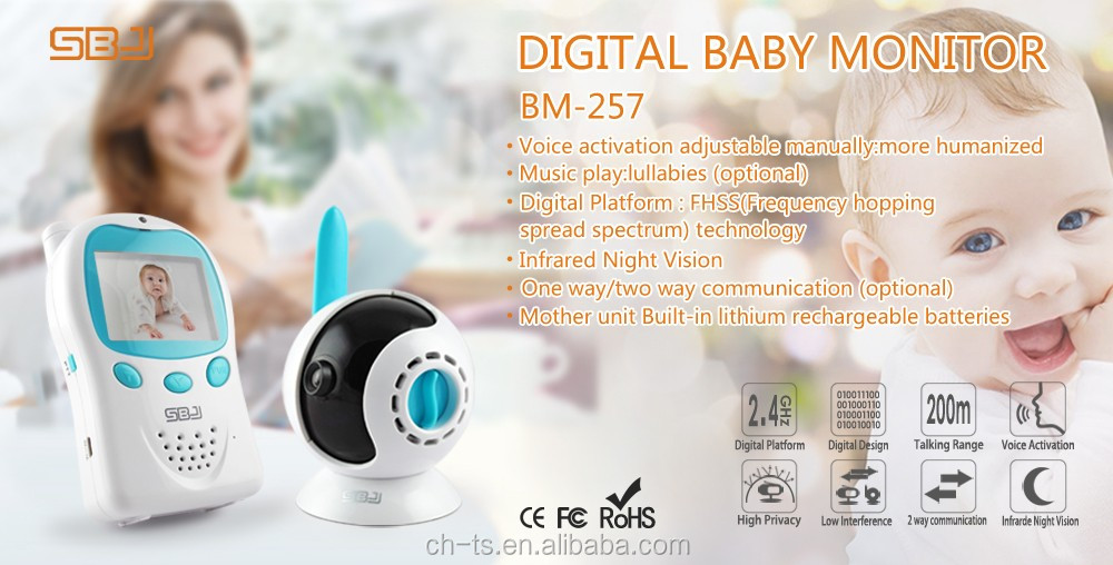 baby monitor with infrared night vision two way talk back long range high capacity battery