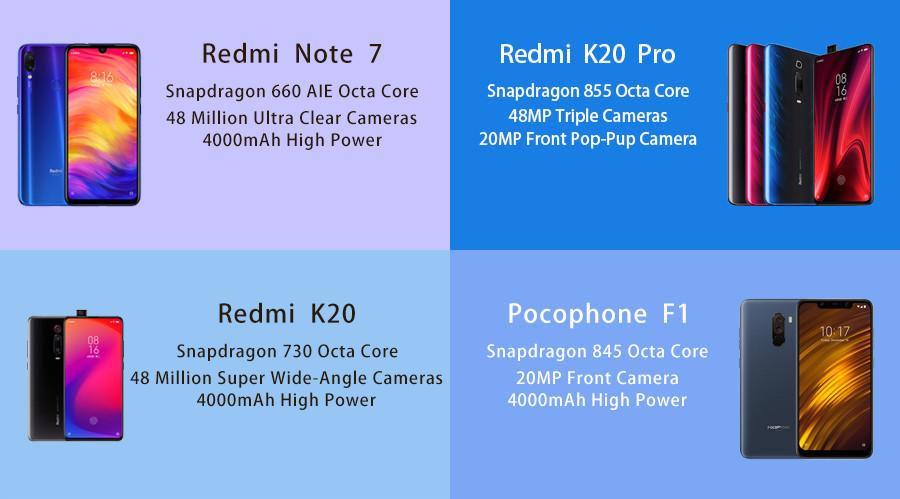 """6.26 """"Xiaomi Redmi Tela Cheia 7 64 4 GB de RAM GB ROM Telemóvel Snapdragon 632 Núcleo octa 12MP câmera 4000 mAh Da Bateria"""