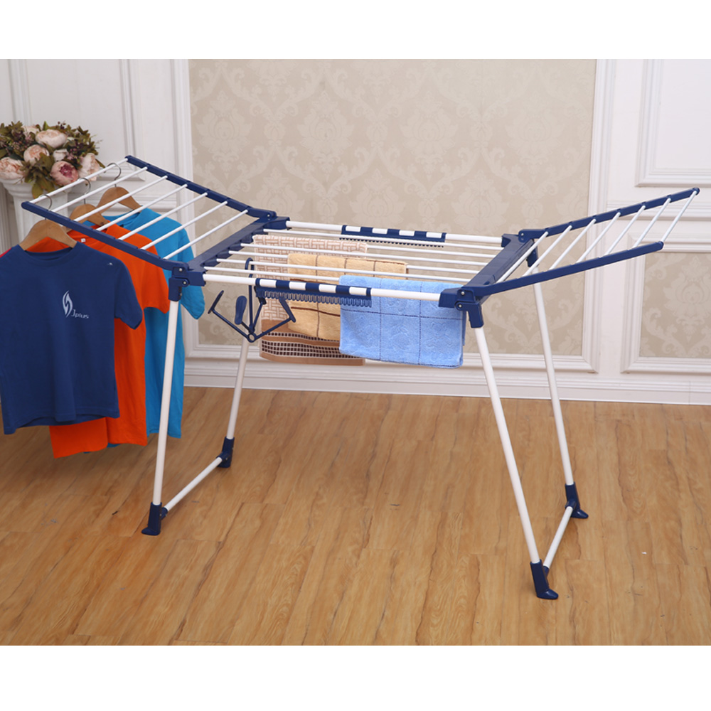 JP-CR0504W Flexible Aluminum Metal Stainless Steel Telescopic Extended Folding Clothes Drying Racks