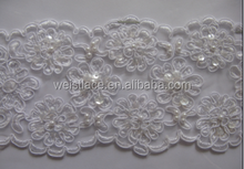 2015 Hot sale 100% polyester manufacturers embroidery strips chemical venise trim lace 2015 african lace fabric