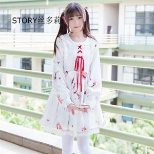 92a2e491acd3 Japan anime sweet fairy girl school Japanese teacher COSPLAY costumes  clothing short sleeves flouncing Lolita dress