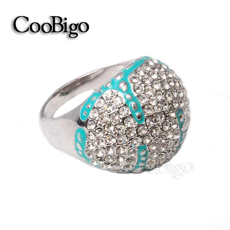 High Class Fashion Jewelry Zinc Alloy Rhinestone Ring Silver Plated Women Party Show Gift Dresses Apparel Promotion Accessories