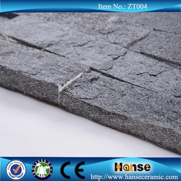 Zt004 grigio scuro muro di pietra fungo piastrelle per esterni ...