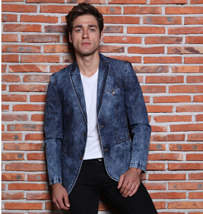 2015 new arrival mens jeans blazer masculino casual mens denim blazer masculino brand designs. Black Bedroom Furniture Sets. Home Design Ideas