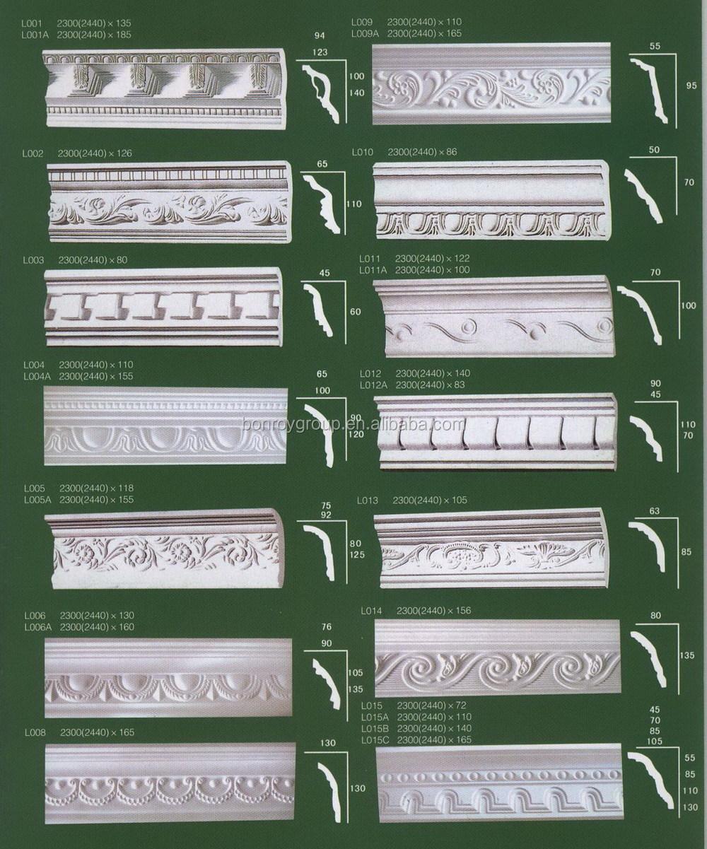 White Decorative Gypsum Corners For Gypsum Board Ceiling