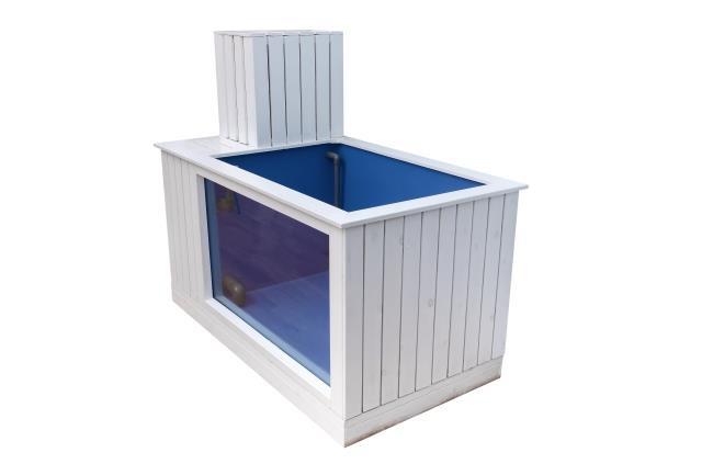 Plastic folded fiberglass koi show tub for garden pond Fiberglass garden tubs