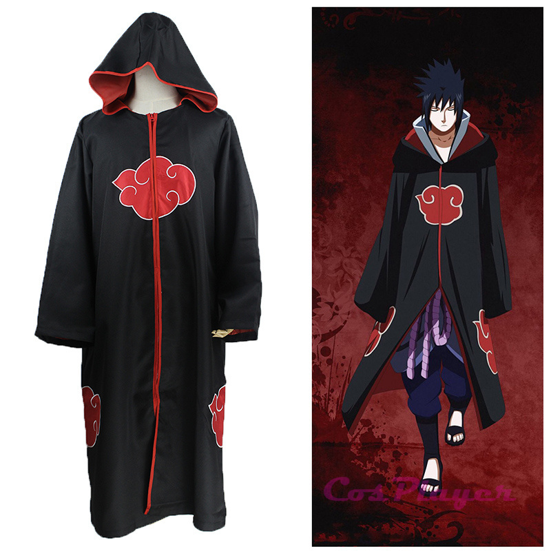 Hot Anime Naruto Cosplay Costumes Akatsuki Uchiha Itachi Cloak Taka Cape