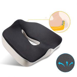 Patent Car Seat Massage Office Outdoor Memory Foam Zero Gravity Adult Car Orthopedic Chair Memory Foam Coccyx Seat Cushion