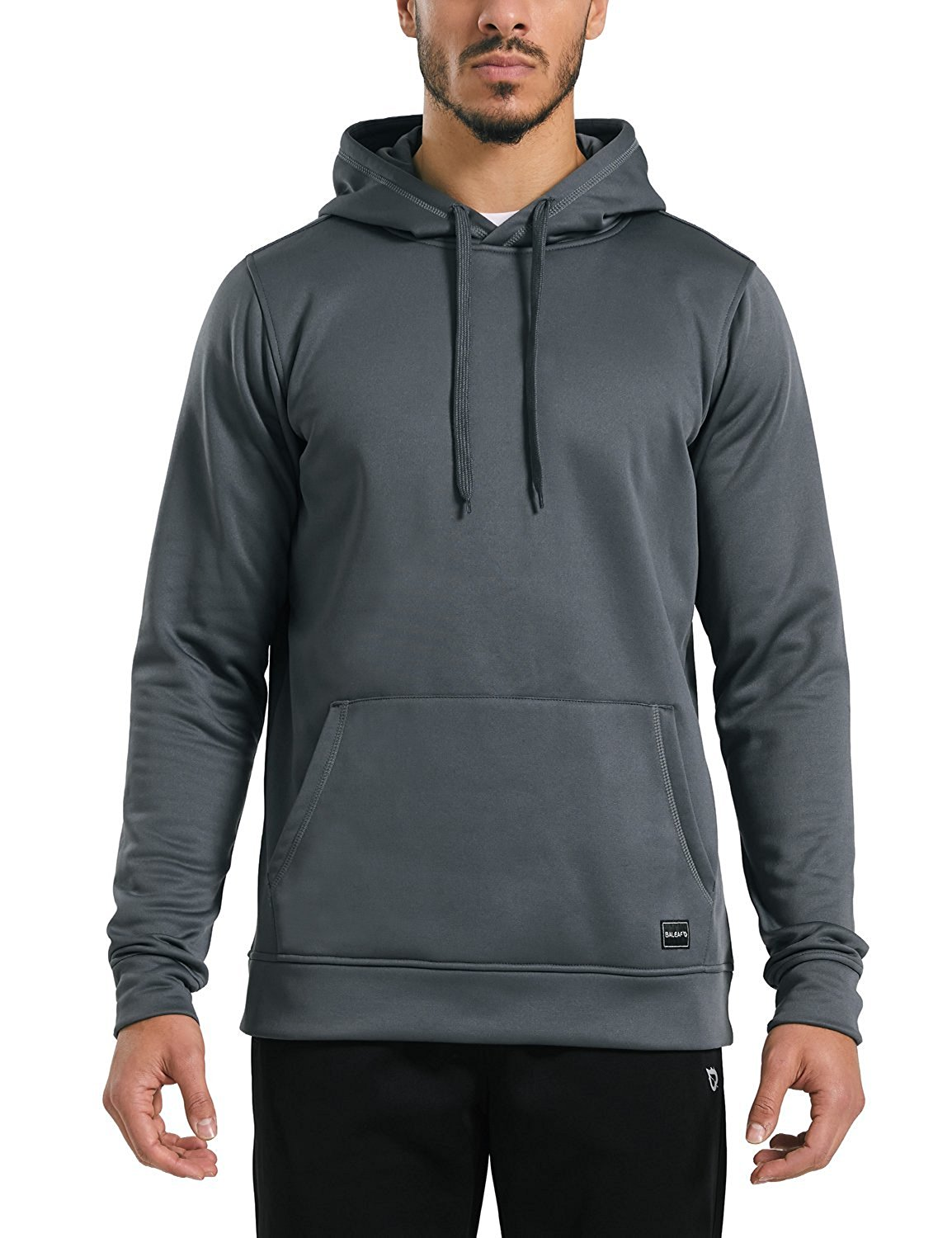 dc2db79fde7 Get Quotations · Baleaf Men s Thermal Fleece Hoodie Pullover Sweatshirt  Grey Size XL