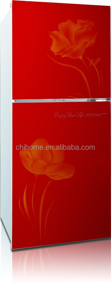 CFC free refrigerator gas powered home glass door 175L refrigerator