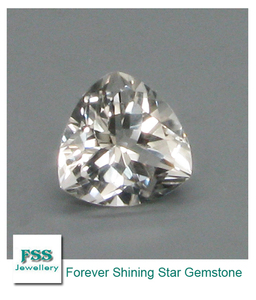 China Factory Good Quality White Topaz Stone Trillion Cut Loose Gemstone 9mm*9mm For Topaz Jewelry