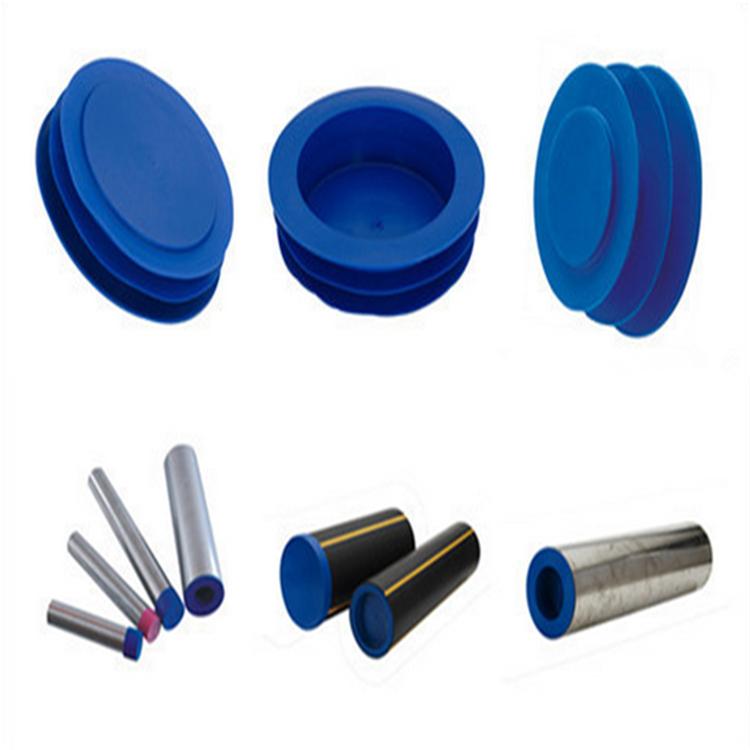 Vinyl pipe plug galvanzied steel tube end rubber