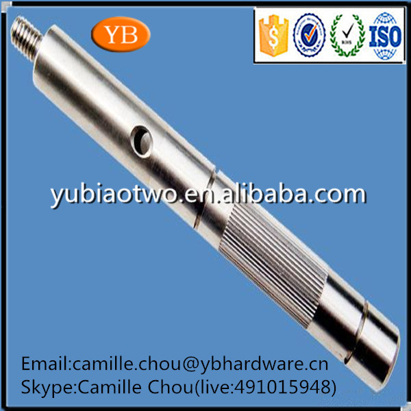 Cheap And High Quality CNC Precision Stainless Steel Knurling Spindles Shaft From Professional Factory