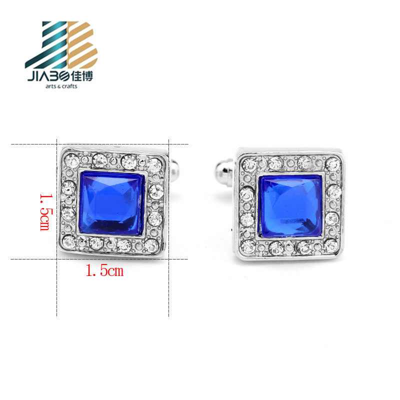 2019 New popular oem customized unique crystal color cufflink