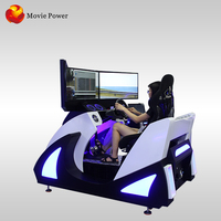 The game thrilled the audience f1 car racing simulator with 3 screens with Oculu vr