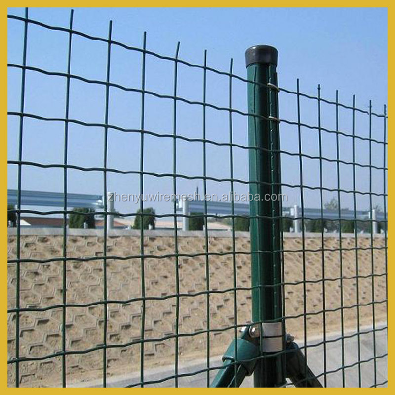 Pe Pvc Coated 6ft Holland Welded Wire Fence 4x4 3x3 2x2