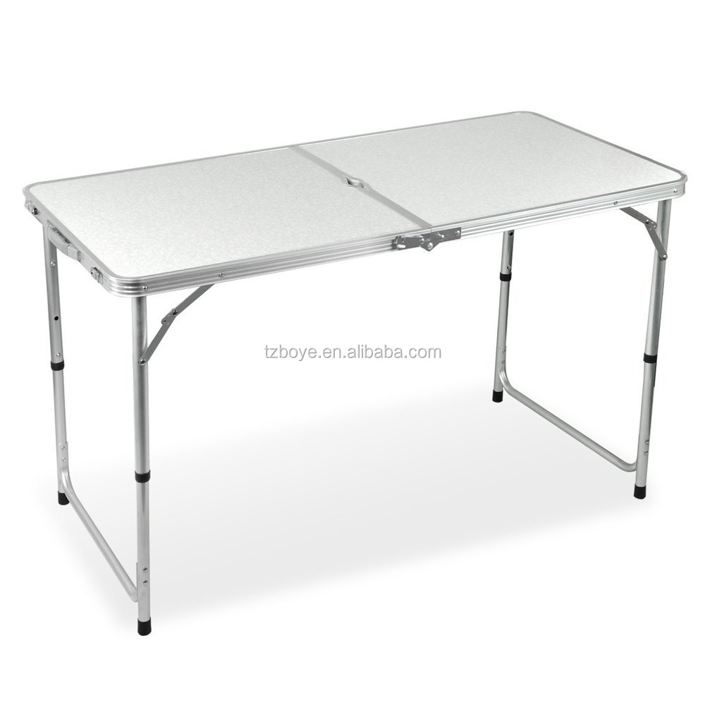 4 foot adjustable height folding table - Outdoor 4 Foot Aluminium Folding Portable Camping Picnic Party Dining Table Height Adjustable