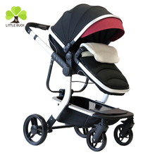Wholesale See baby stroller folding portable four wheel /damping baby carriage/safety belt for baby stroller manufacturing