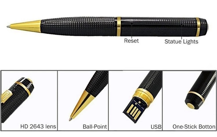 OEM Fabriek Goede Kosten Voice Video Recorder Business Draagbare 1080P Full HD Spy Pen Camera