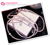 OEM pearl diamond headphone with microphone for iphone/samsung/mobile phone