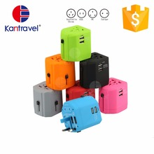 new product travel 2 usb smart charger with universal travel adapter