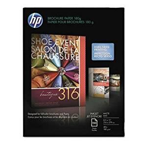 Brand New Hp Inkjet Brochure/Flyer Paper 103 Brightness 48Lb 8-1/2 X 11 White 150/Pack