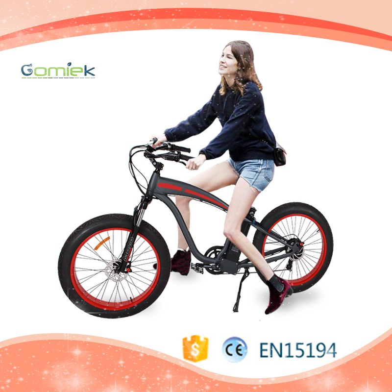 2017 hot sale 8fun 48 10.4AH li-ion SAMSUNG battery 500W power fat tire harley electric bike