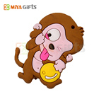 flexible vinyl 3D monkey shape fridge magnets novelty rubber fridge magnets sale to uk for giveaway