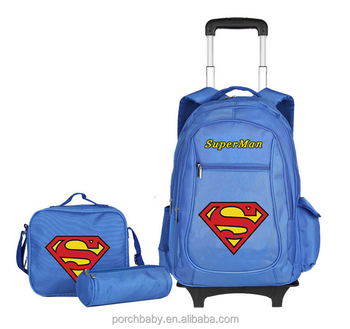 7b045194a9 Doraemon And Superman Strong Cartoon Kids School Bag With Wheels ...
