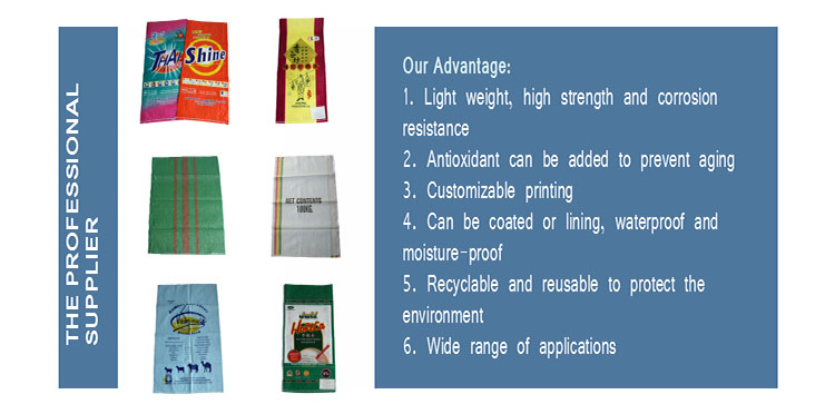 china factory supplier pp new material sugar woven bags sacos polipropileno 50 kg 25kg for fish feeds animal food sacks