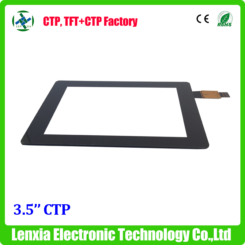 6H surface hardness capacitive 3.5'' touch screen panel