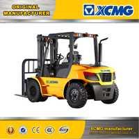 XCMG 8 Ton 8000kg load capacity Isuzu engine diesel forklift truck