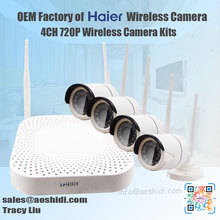 4CH HD Survailance Wifi IP camera with NVR Kit Outdoor, Wholesale Home Security Camera System wireless