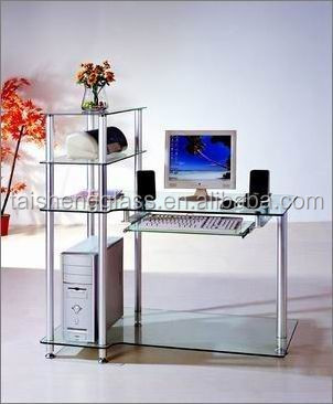 customized size float toughened glass for computer desk