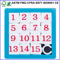 Number+Letter Silk-screen Sliding Puzzle